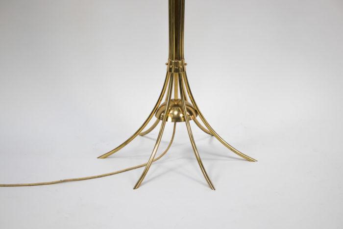 lampe tulipe pied laiton doré