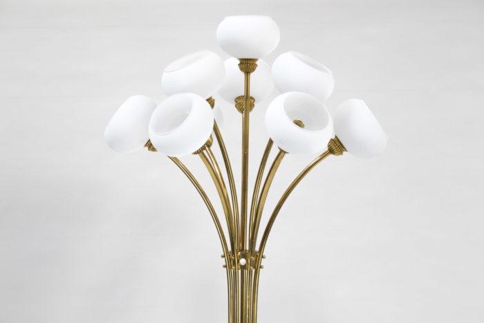 lampe tulipes verre teinté