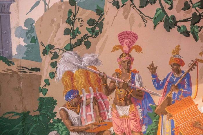 papier peint zuber détail fête indienne