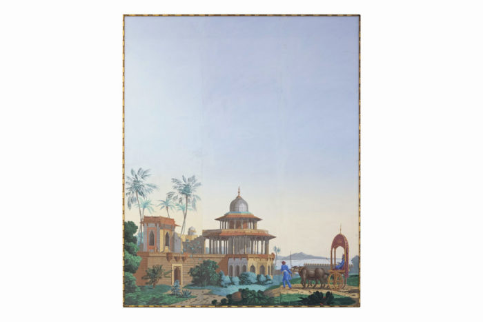 papier peint zuber hindoustan forteresse moghole