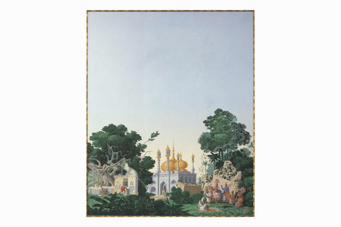 papier peint zuber hindoustan temple
