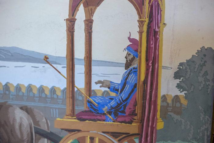 papier peint zuber notable palanquin