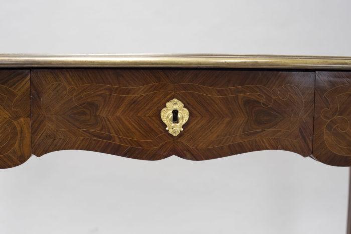 petit bureau marquete style louis xv tiroir central
