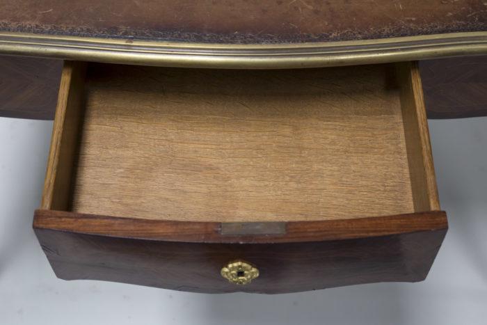 petit bureau marquete style louis xv tiroir ouvert