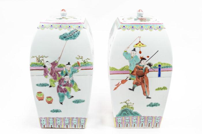 pots couverts porcelaine famille rose porcelaine