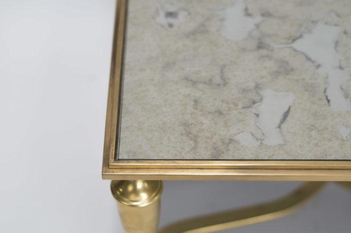 table basse bronze doré detail