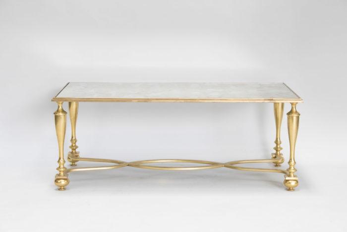 table basse bronze doré face