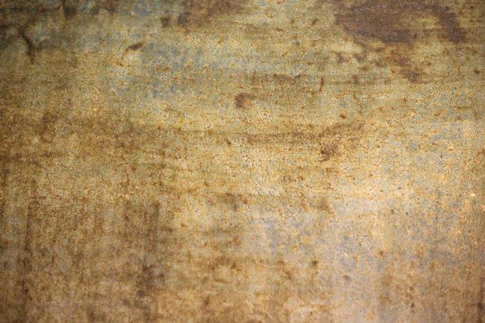 table basse métal chromé céramique faïenced