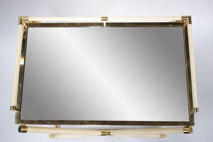 table desserte consulat bakelite blanche dessus miroir