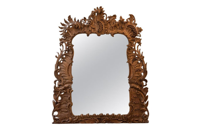 carved wood rococo mirror