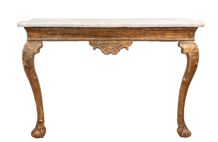 console anglaise chippendale bois face