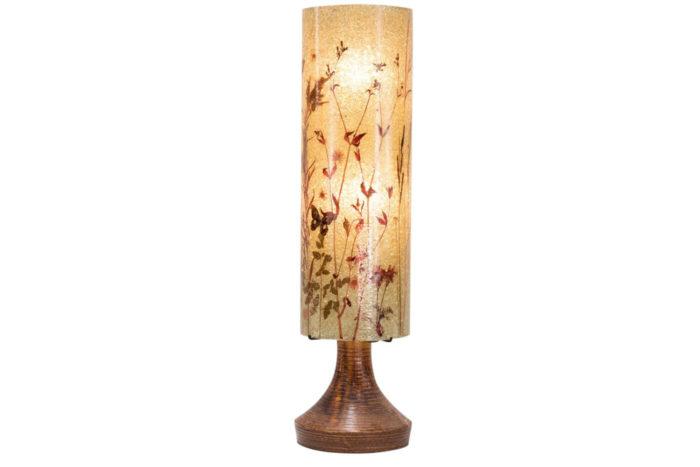 lampe accolay ceramique abat jour résine