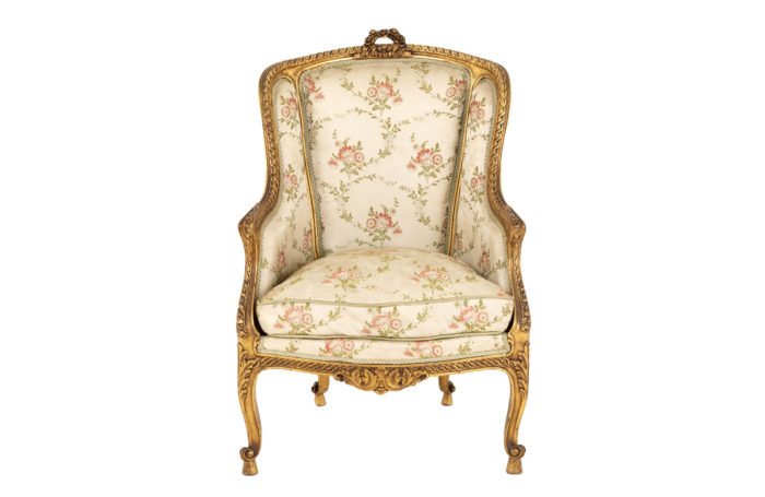 Transition style bergere gilt wood