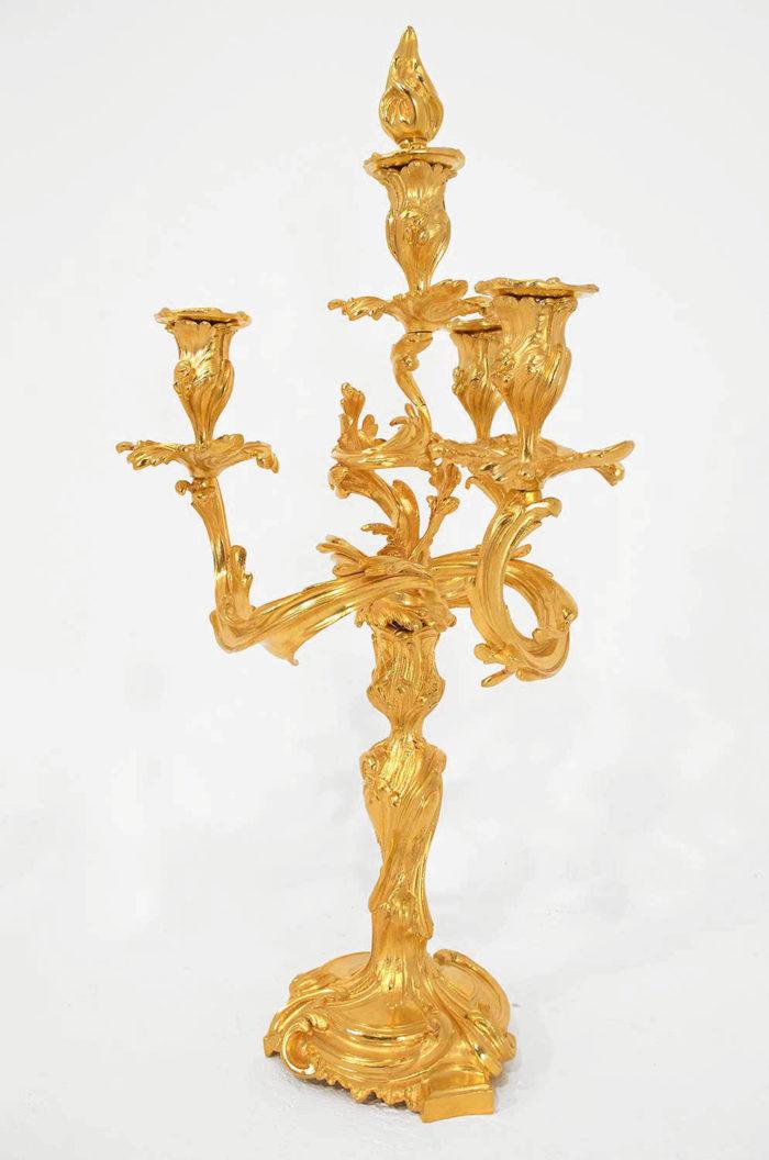 candélabre-bronze-doré-louis-xv-meissonnier
