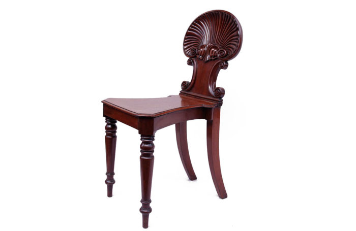 chair mahogany regency shell