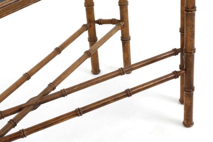 console hêtre bambou detail pieds