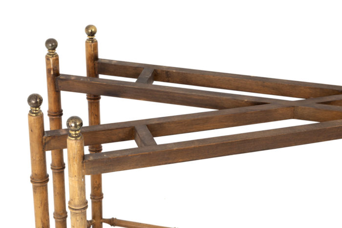 console hêtre bambou detail sous plateau