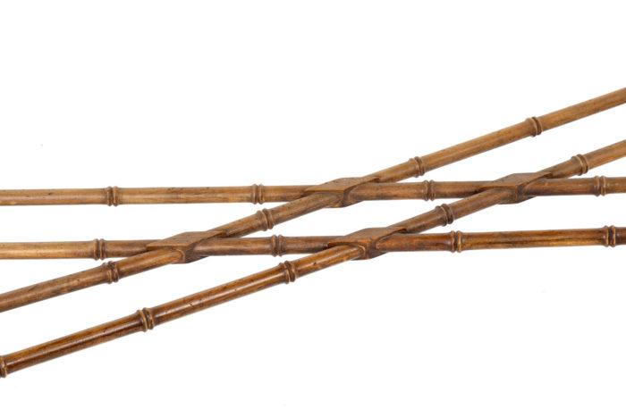 console hêtre bambou entretoise