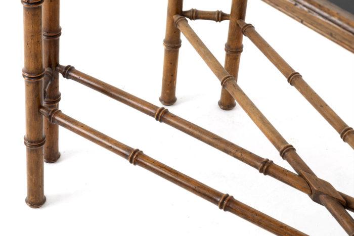 console hêtre bambou pieds