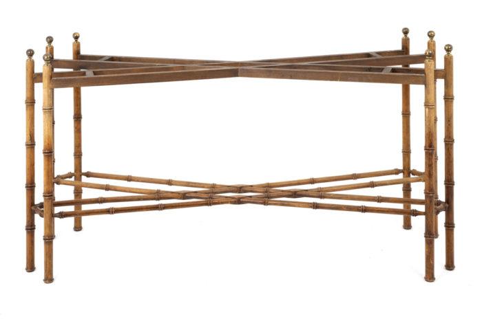 console hêtre bambou pietement seul