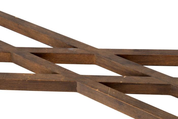 console hêtre bambou sous plateau