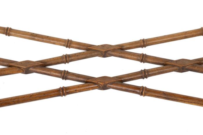 console hêtre bambou vernis noir entretoise