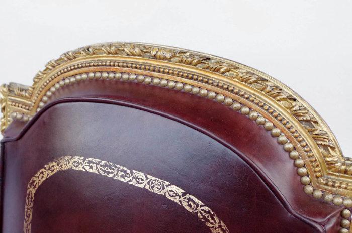 dossier fauteuil louis xvi bois doré