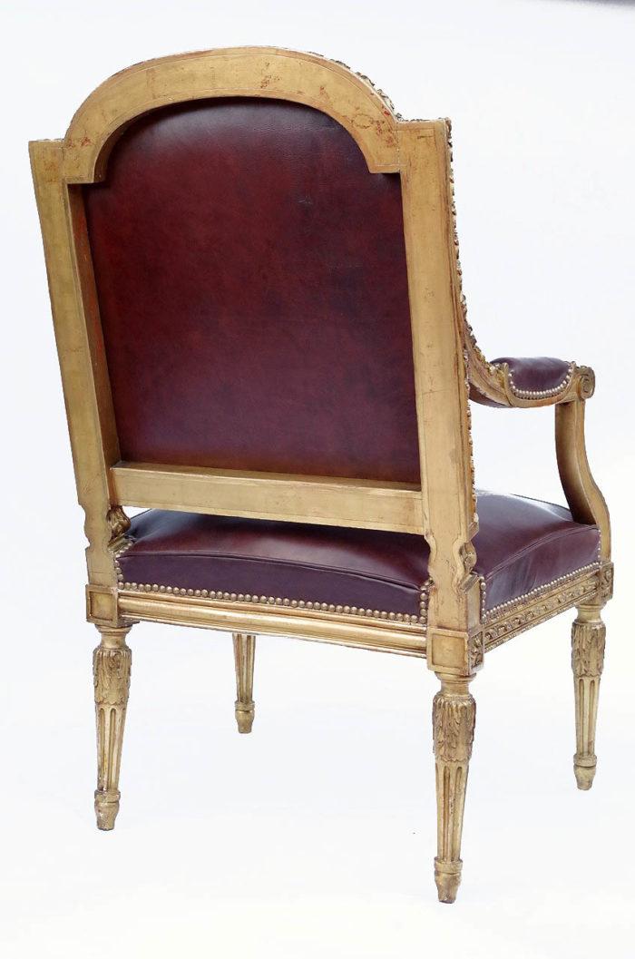 fauteuil louis xvi bois doré dos