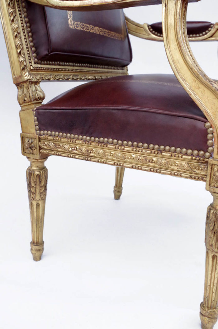 fauteuil louis xvi traverse bois doré