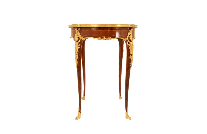 louis xv pedestal table sormani marquetry front