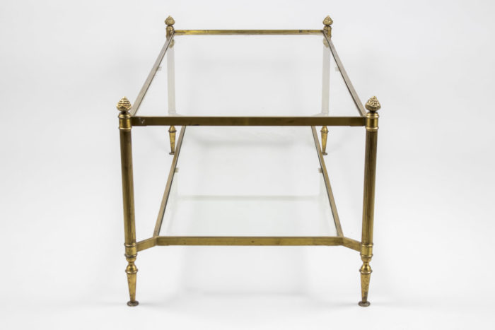 maison jansen table basse laiton doré jansen