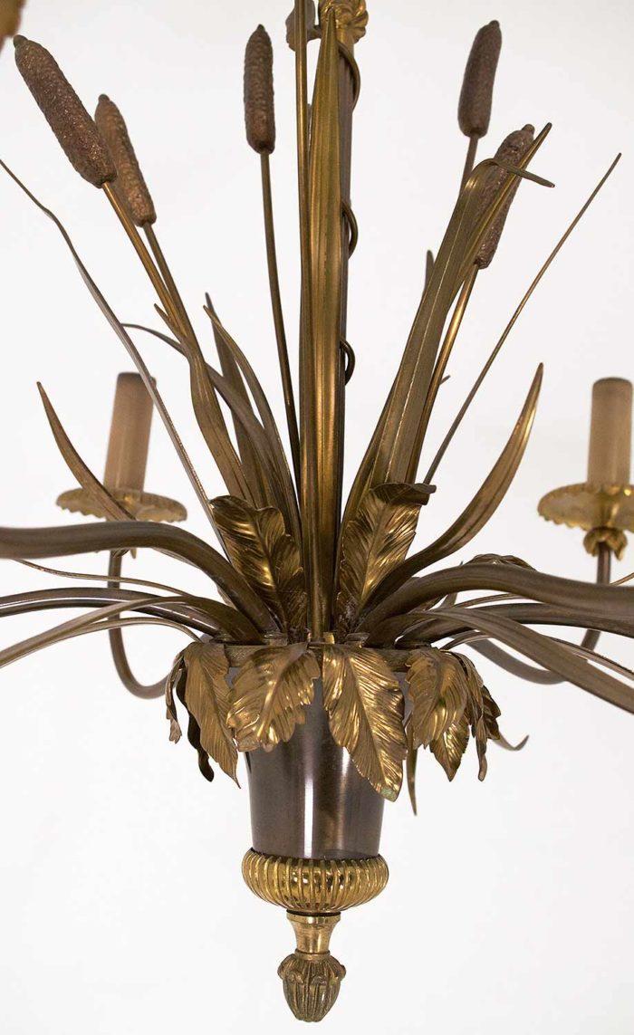lustre-maison-charles-roseau-bronze-doré