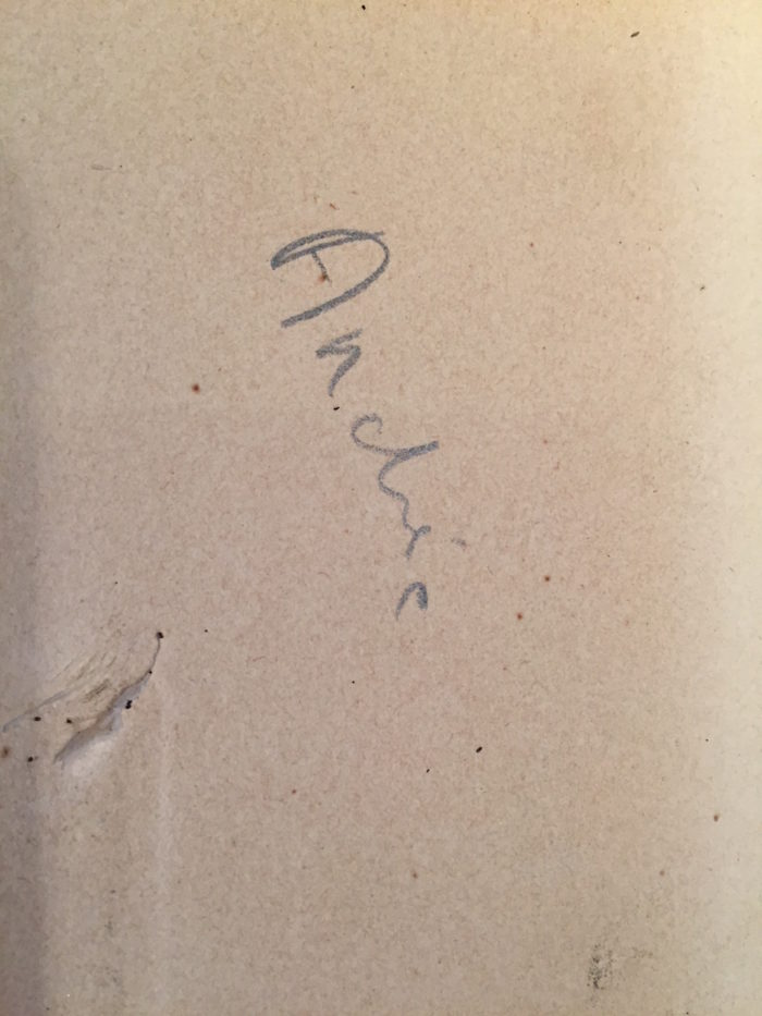 mention manuscrite villon gravure