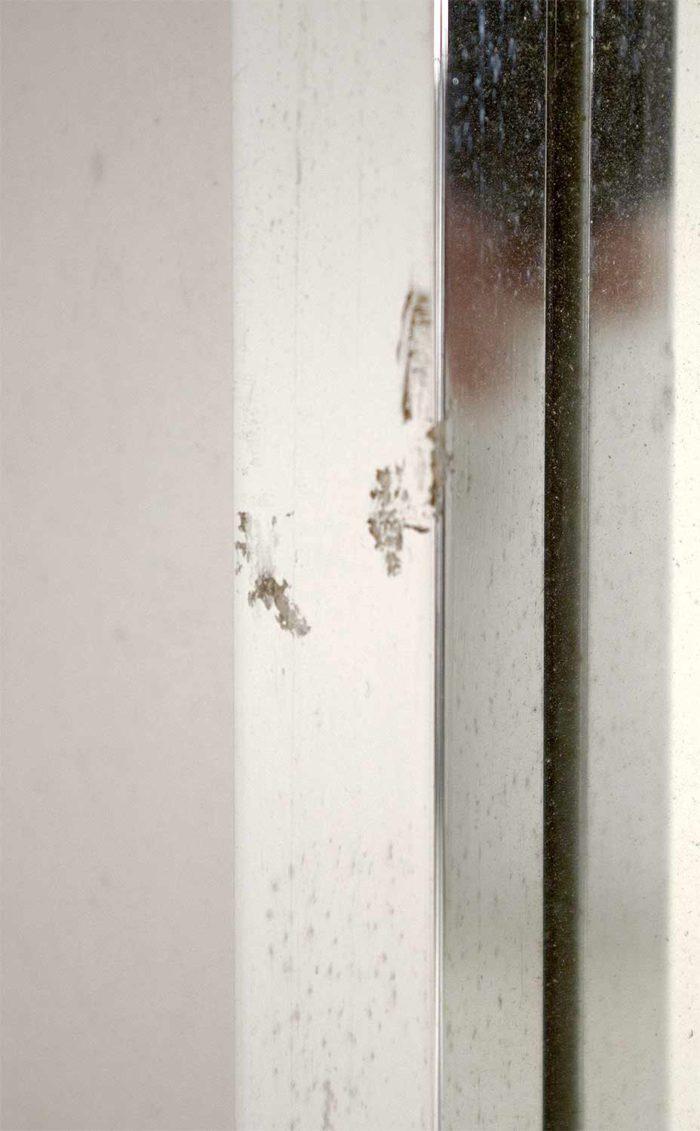 miroir maison jansen inox détail