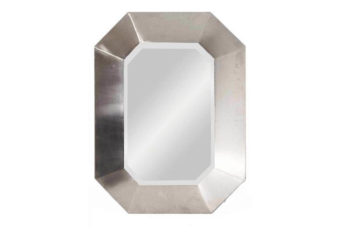 miroir maison jansen octogonal inox