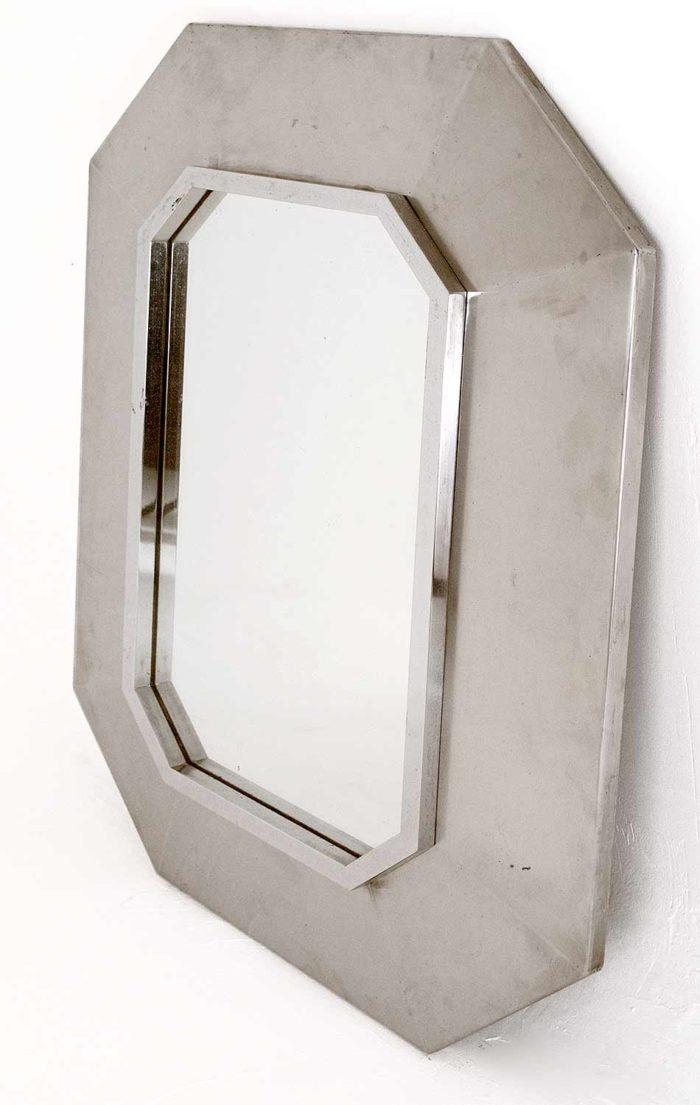 miroir octogonal inox maison jansen