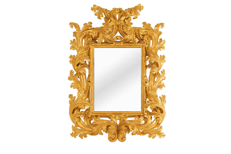 miroir rococo bois doré principal