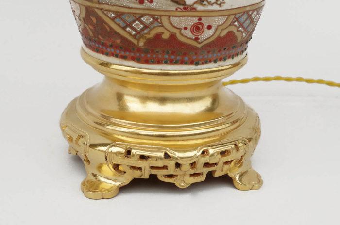 monture bronze doré chinoisante
