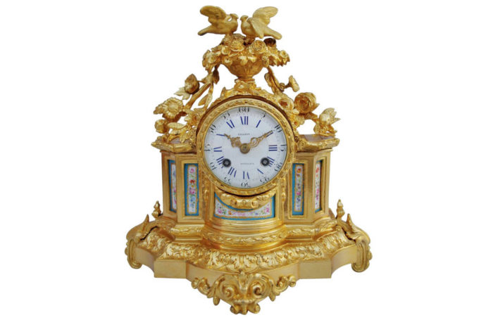 sevres porcelain clock gilt bronze