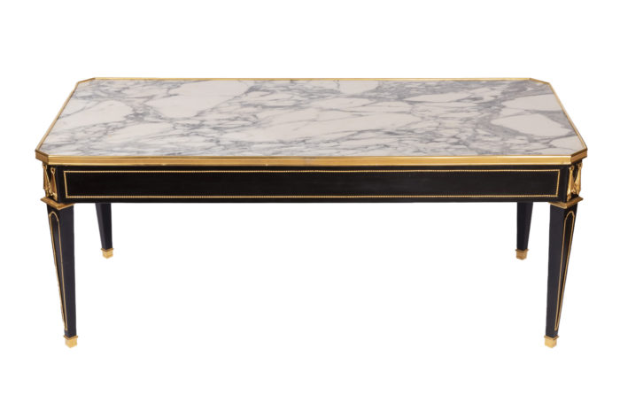 black lacquer directoire style coffe table