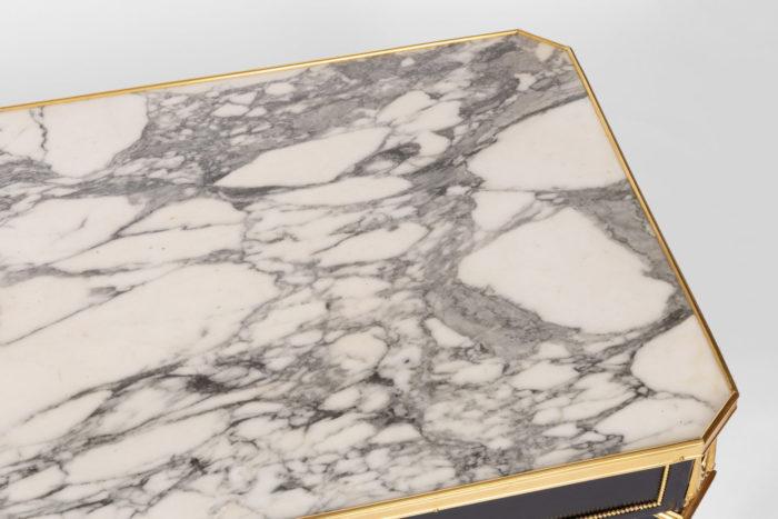 table basse directoire marbre