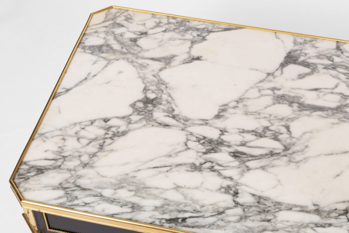 table basse directoire marbre gris