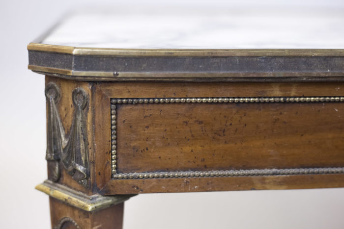 table basse directoire merisier angle