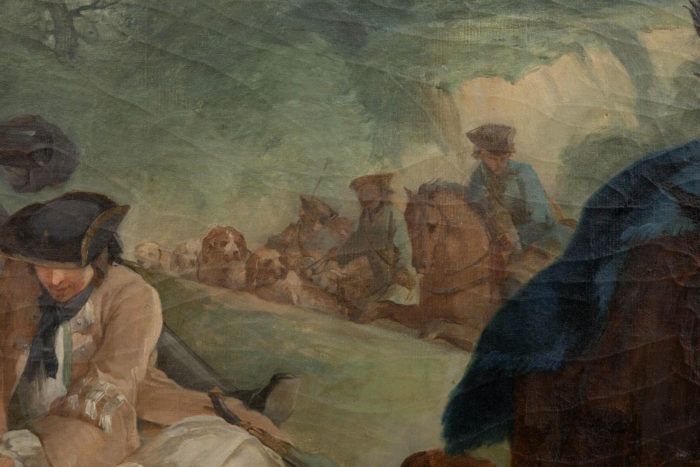 tableau van loo halte de chasse ecole française chasse