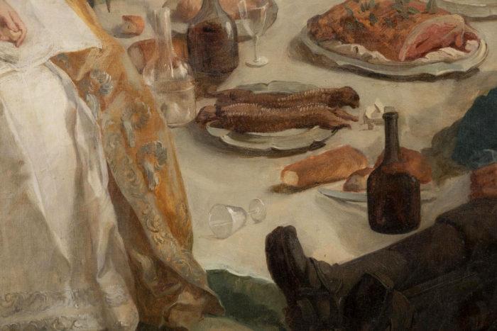 tableau van loo halte de chasse ecole française déjeuner