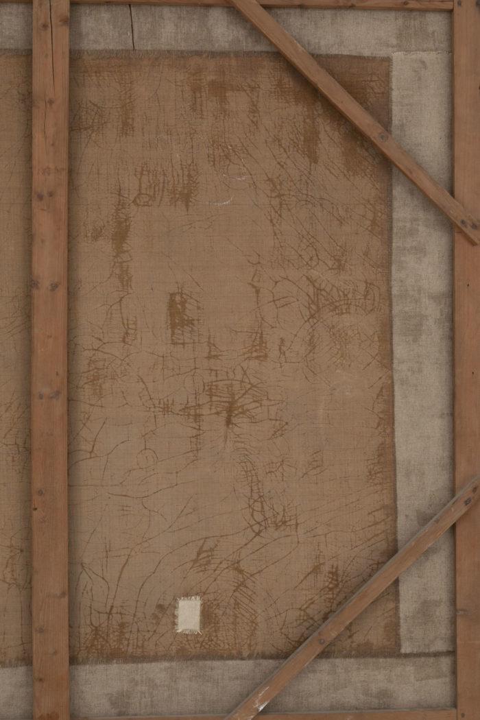 tableau van loo halte de chasse ecole française detail dos 2