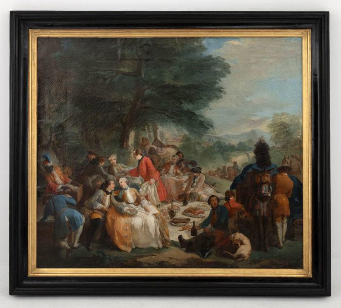 tableau van loo halte de chasse ecole francaise