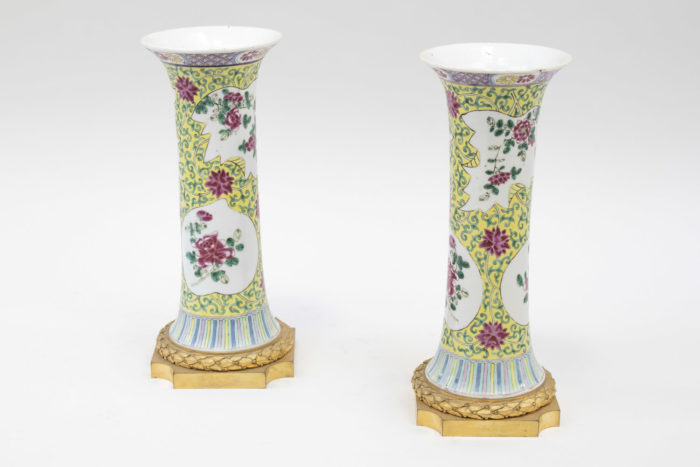 vases porcelaine famille rose