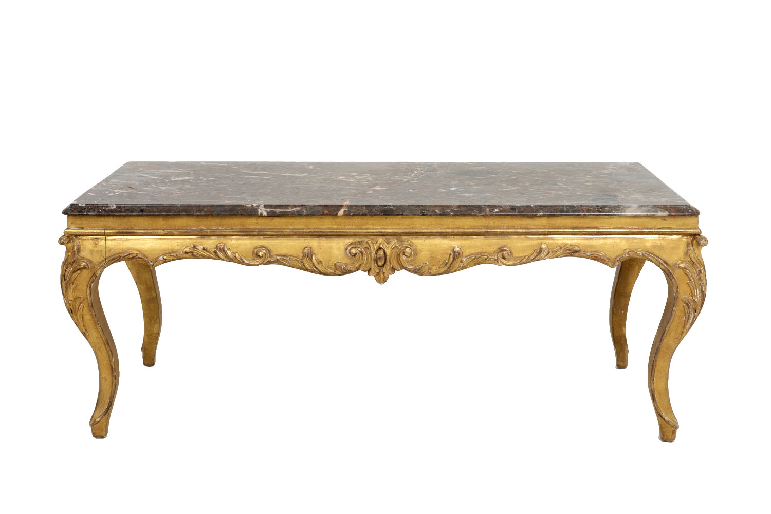 Louis Xv Style Giltwood Coffee Table Circa 1950 French Antiques