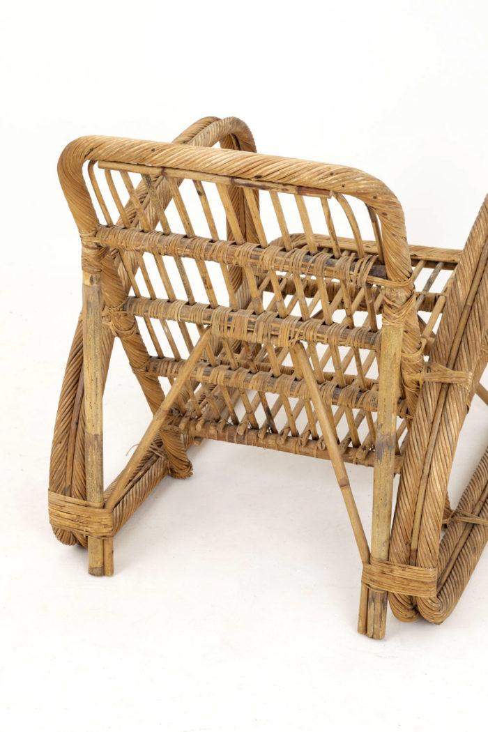 paul frankl fauteuil rotin vintage dos 2